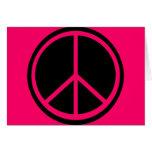 Signo de la paz negro clásico felicitaciones