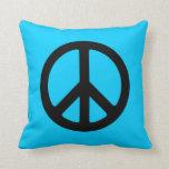 Signo de la paz negro cojin