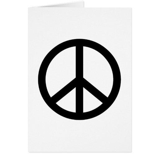 Signo de la paz negro felicitacion
