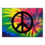 Signo de la paz negro teñido lazo felicitaciones
