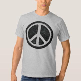 Signo de la paz original del vintage playera