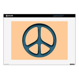 Signo de la paz oxidado 38,1cm portátil calcomanías
