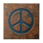 Signo de la paz oxidado azulejo