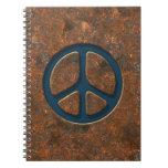 Signo de la paz oxidado cuadernos