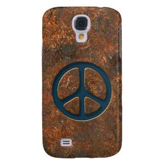 Signo de la paz oxidado funda para galaxy s4