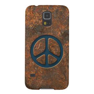 Signo de la paz oxidado fundas de galaxy s5