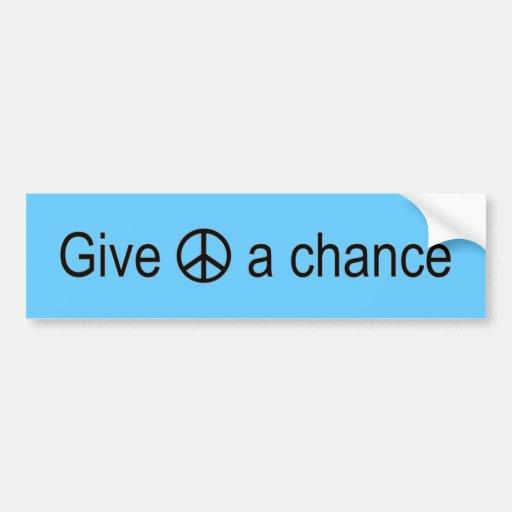 Signo de la paz pegatina de parachoque