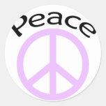 Signo de la paz pegatinas redondas
