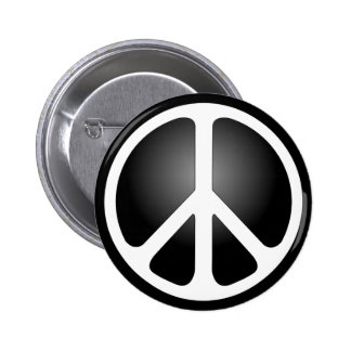 Signo de la paz pin redondo de 2 pulgadas