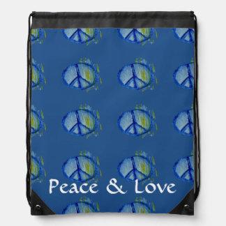 Signo de la paz pintado personalizable mochilas