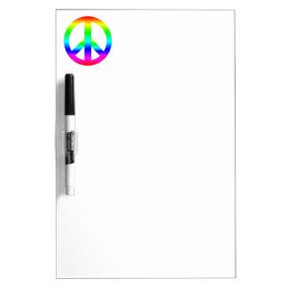 Signo de la paz pizarras blancas