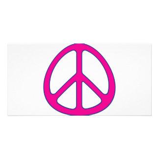 signo de la paz plantilla para tarjeta de foto