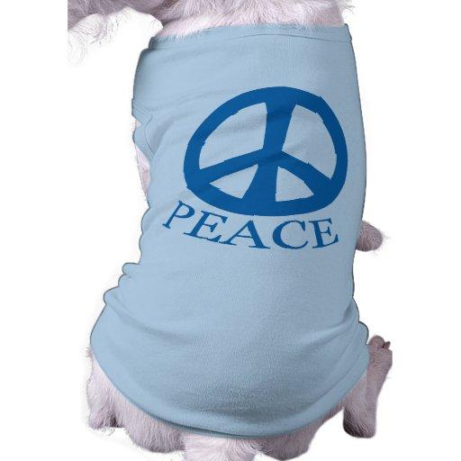 Signo de la paz playera sin mangas para perro