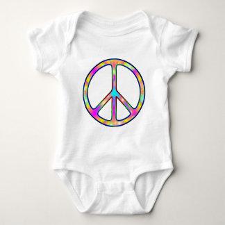 Signo de la paz psicodélico completo body para bebé