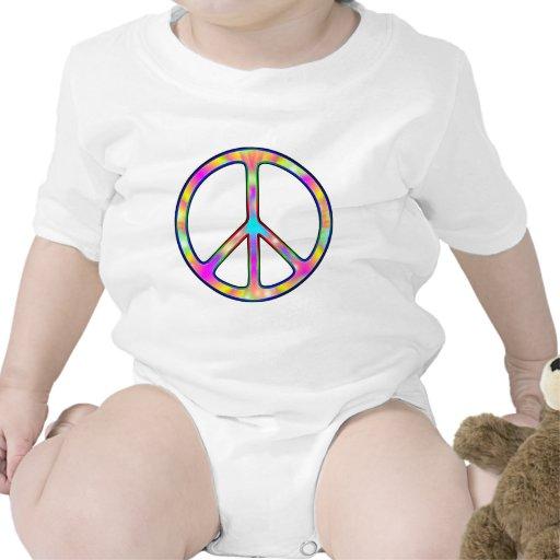 Signo de la paz psicodélico completo traje de bebé
