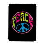 Signo de la paz psicodélico del Hippie Iman De Vinilo