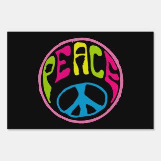 Signo de la paz psicodélico del Hippie Letreros