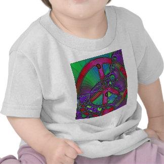 signo de la paz psicodélico camiseta