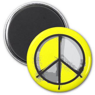 Signo de la paz - punk de la alternativa del Grung Imán Redondo 5 Cm
