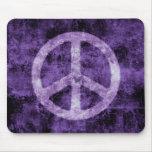 Signo de la paz púrpura apenado Mousepad Tapete De Raton
