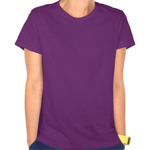 Signo de la paz púrpura camiseta