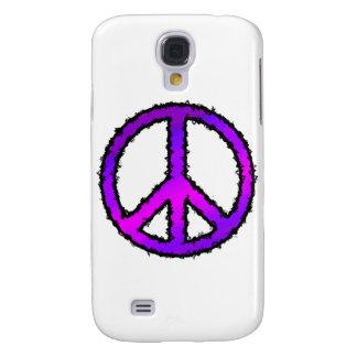 Signo de la paz púrpura del zigzag