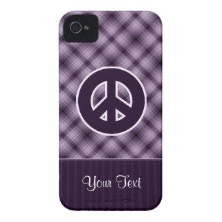 Signo de la paz púrpura iPhone 4 Case-Mate cobertura