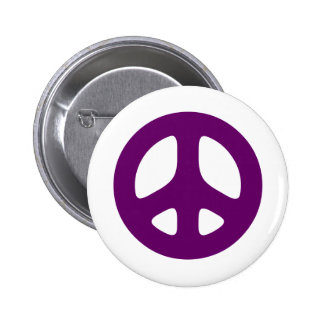 Signo de la paz púrpura gigante pin