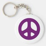 Signo de la paz púrpura gigante llavero