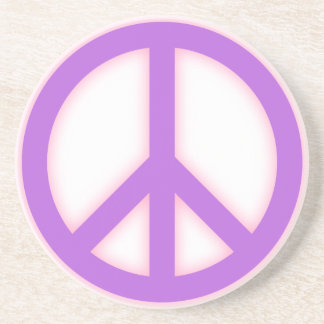 Signo de la paz púrpura posavasos manualidades