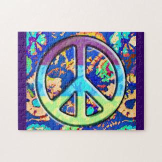 Signo de la paz púrpura Trippy psicodélico Puzzles Con Fotos