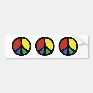 Signo de la paz que fluye colorido de Simle Pegatina Para Auto
