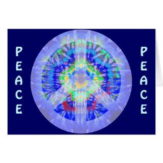 Signo de la paz que va lejos tarjeta