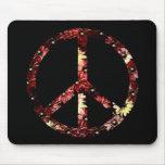 Signo de la paz retro alfombrilla de ratones