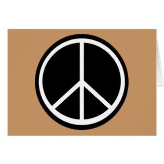 Signo de la paz retro blanco negro clásico tarjeta de felicitación