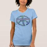 Signo de la paz retro camiseta