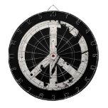 Signo de la paz retro del Grunge Tabla Dardos