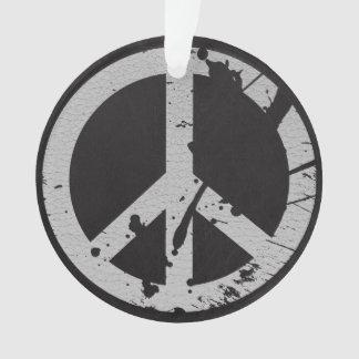 Signo de la paz retro en cuero