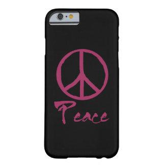 Signo de la paz retro funda de iPhone 6 barely there