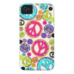 Signo de la paz retro iPhone 4 Case-Mate protectores