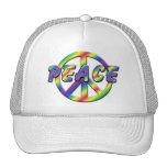 Signo de la paz retro gorras de camionero
