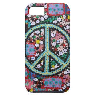 Signo de la paz retro iPhone 5 fundas