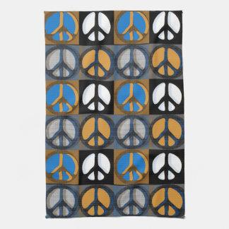 Signo de la paz retro toallas de mano