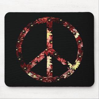 Signo de la paz retro tapetes de ratones