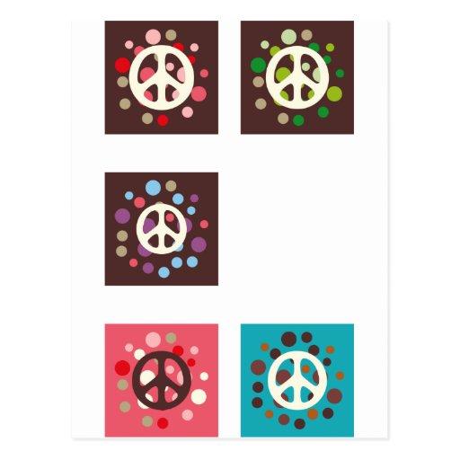 """""""Signo de la paz retro """" Tarjetas Postales"""