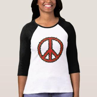 signo de la paz rojo del zigzag del zigzag preferi camiseta
