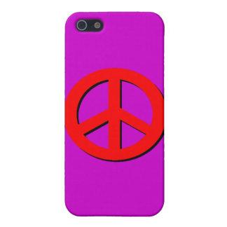 Signo de la paz rojo iPhone 5 fundas