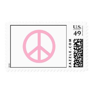 Signo de la paz rosa claro franqueo