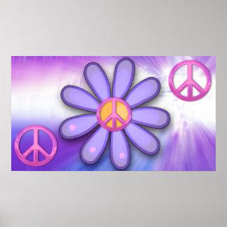 Signo de la paz rosado bonito impresiones