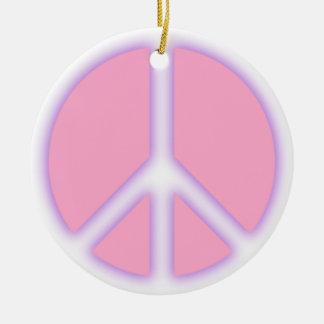 Signo de la paz rosado adorno